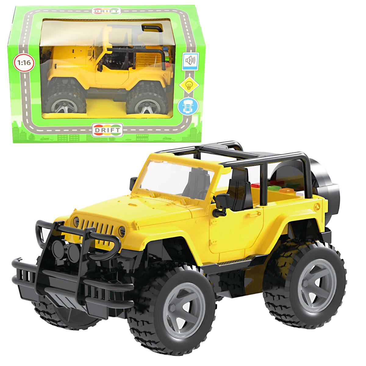 Drift Машинка Джип цвет желтый