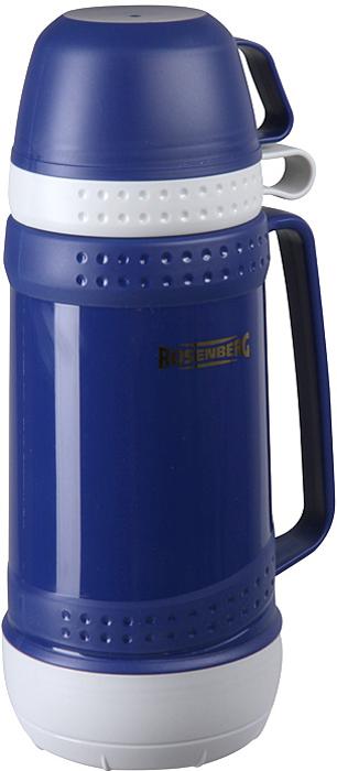 """Термос Rosenberg """"RPL-420003"""", цвет: синий, 1 л"""