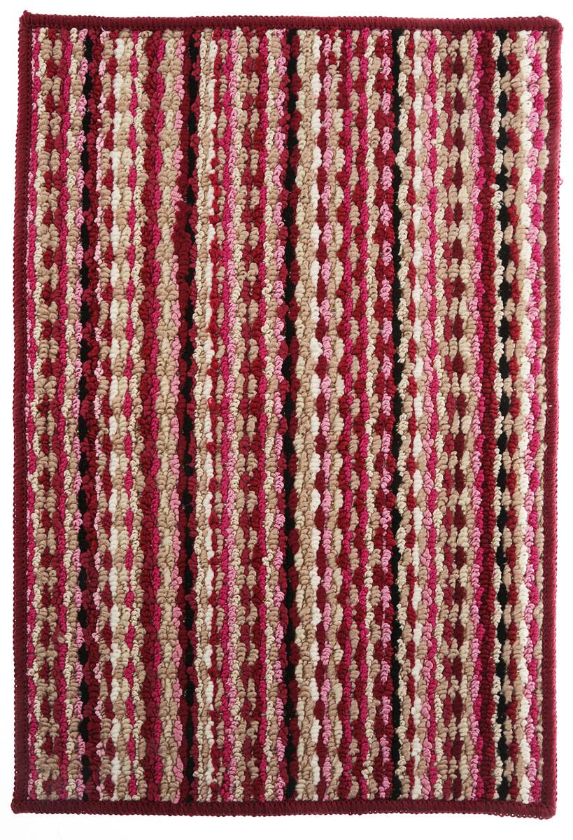 Коврик придверный Vortex Spark, цвет: бордовый, 40 х 60 см. 22353 коврик придверный vortex spark цвет синий 40 х 60 см 22353