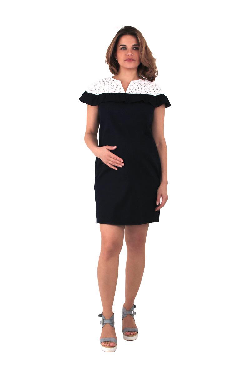 Платье One plus one брюки для беременных one plus one цвет темно синий v632335 размер 46