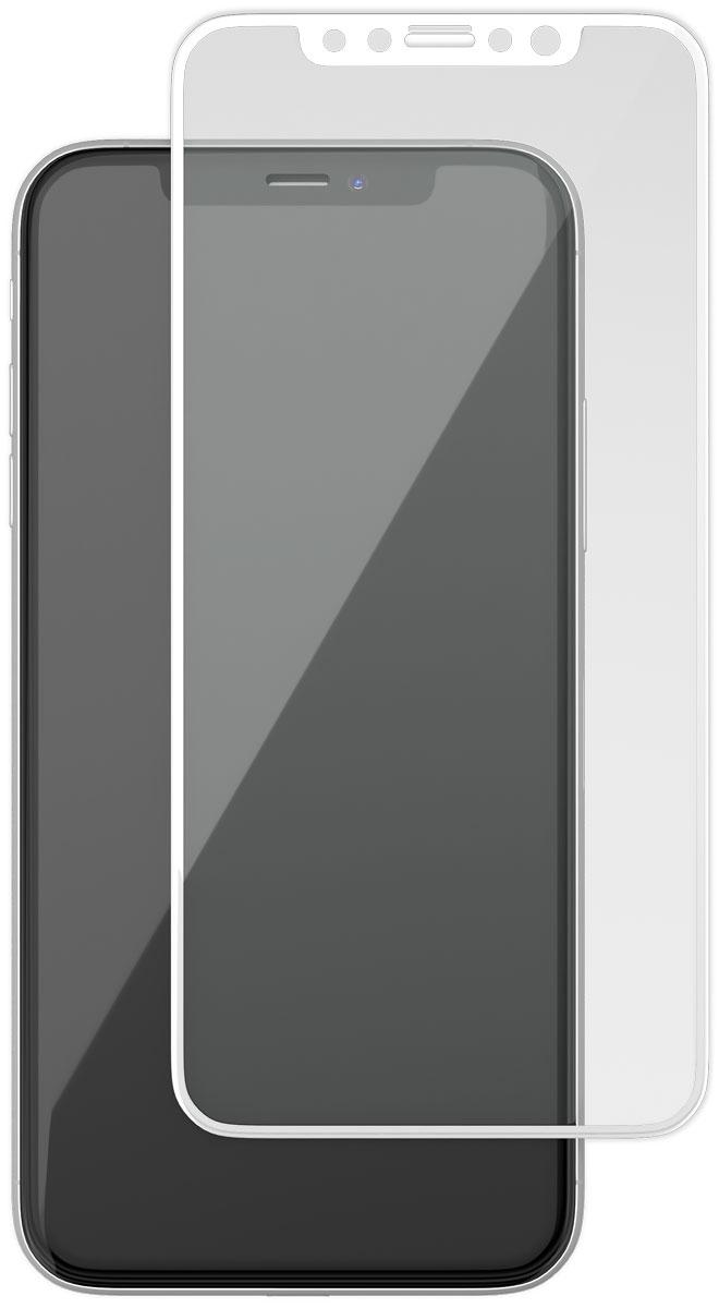 uBear GL12WH03-I10 защитное 3D стекло для Apple iPhone Х, White защитное стекло ubear 3d full cover gl12bl03 i10 для apple iphone x xs с рамкой черный