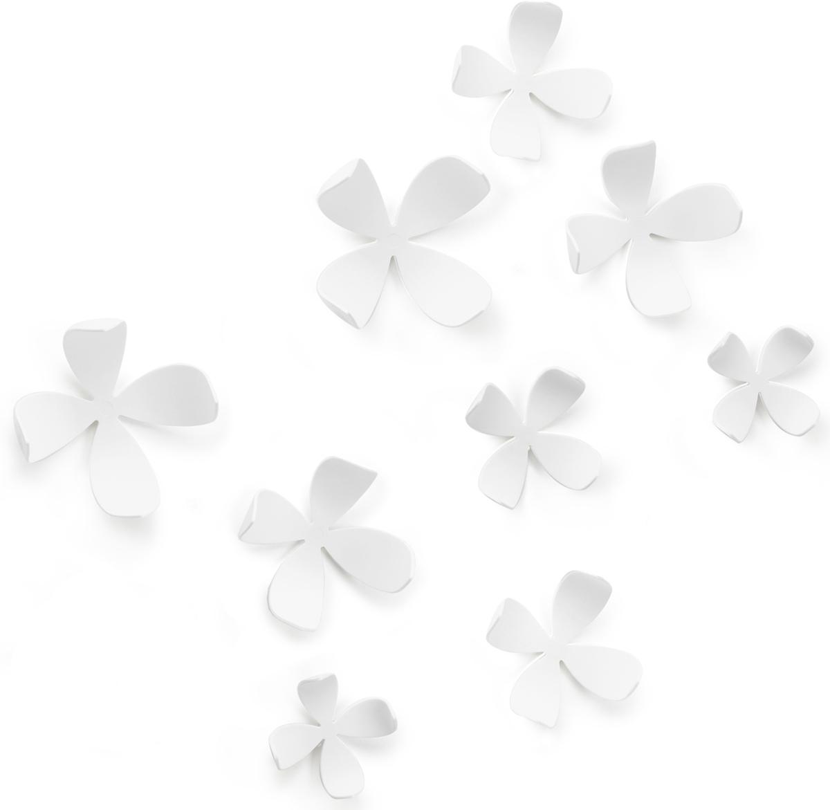 Декор для стен Umbra Wallflower, цвет: белый, 10 элементов декор для стен wallflower 9 шт umbra
