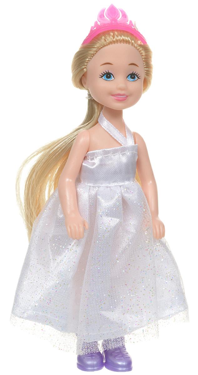 ABtoys Кукла Весенний вальс цвет платья белый