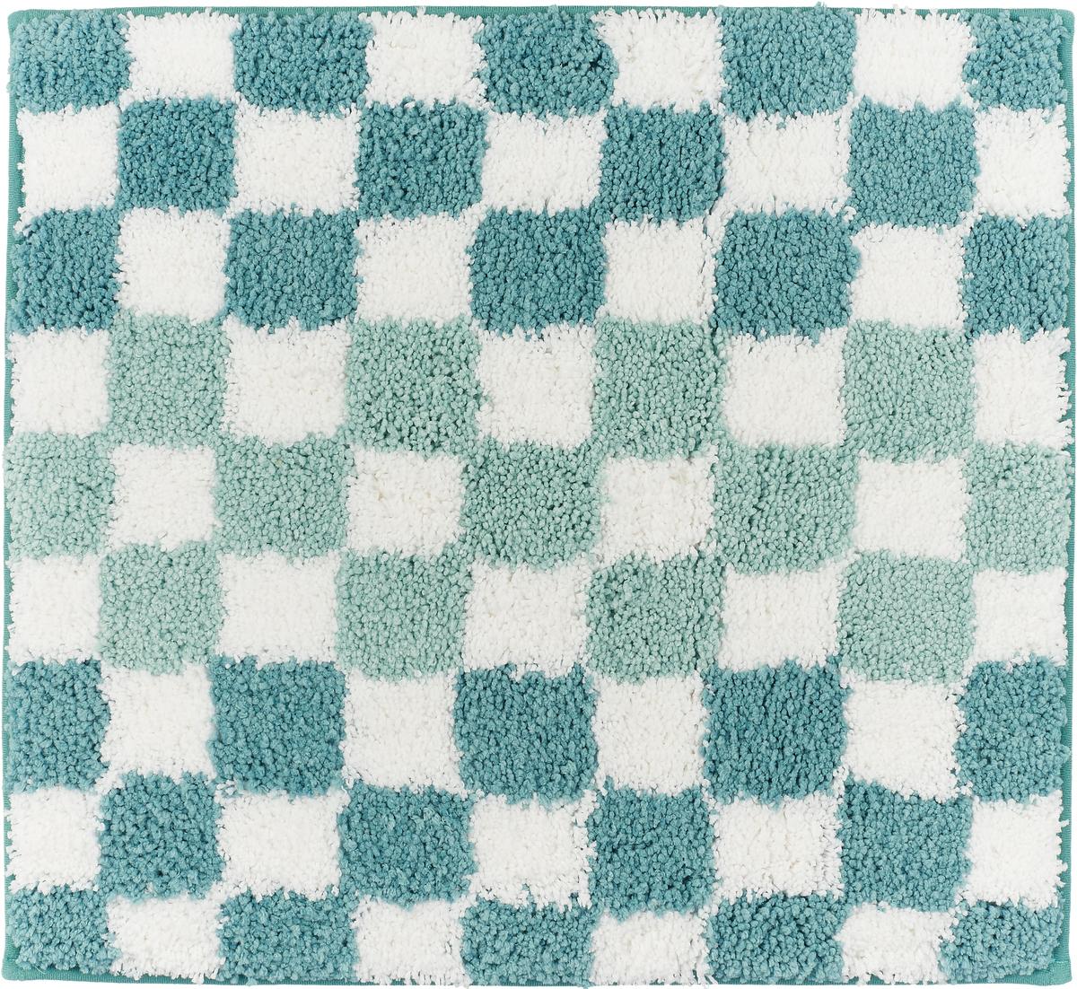 "Коврик для ванной Ridder ""Grand Prix"", цвет: синий, голубой, 55 х 50 см"