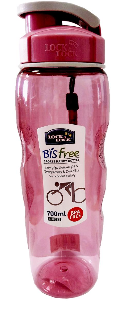 Бутылка спортивная Lock&Lock, цвет: розовый, 700 мл