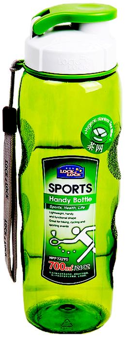 Бутылка спортивная Lock&Lock, цвет: зеленый, 700 мл