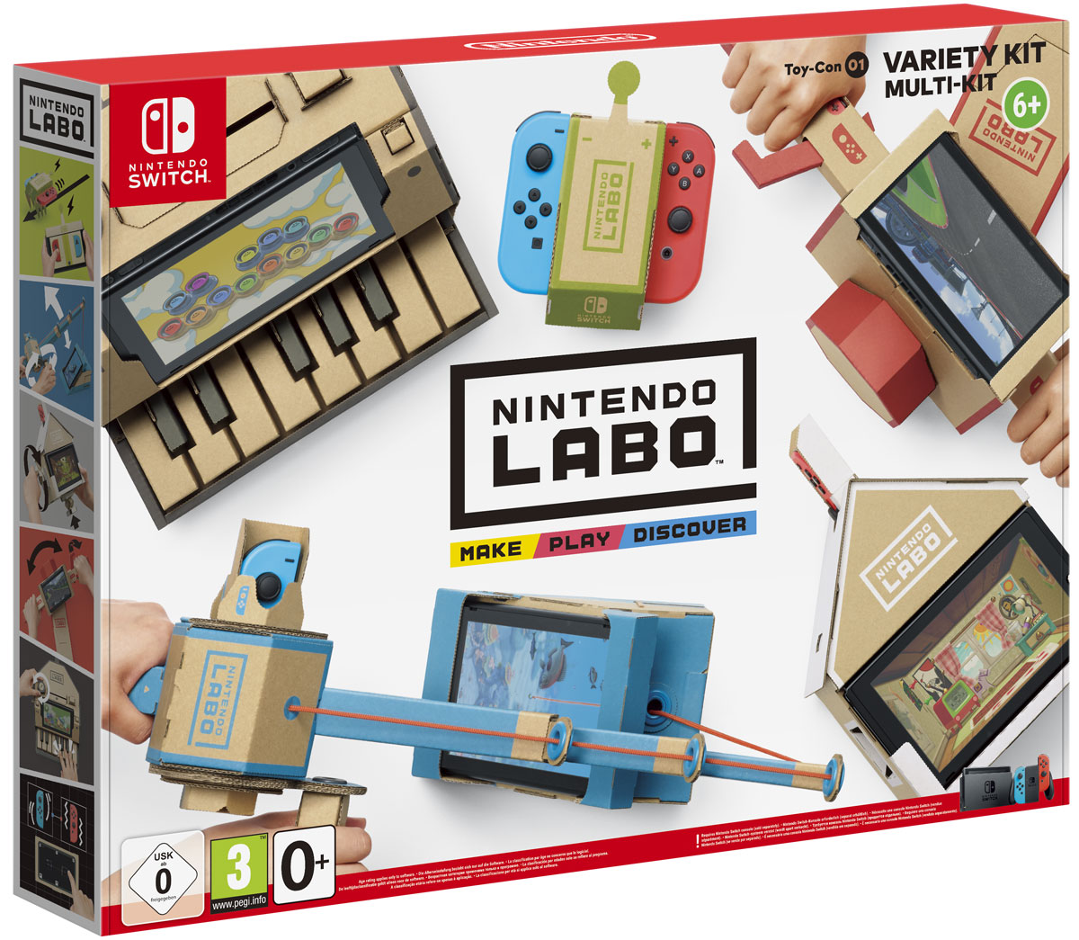 Nintendo Labo: набор Ассорти геймпад nintendo switch pro controller