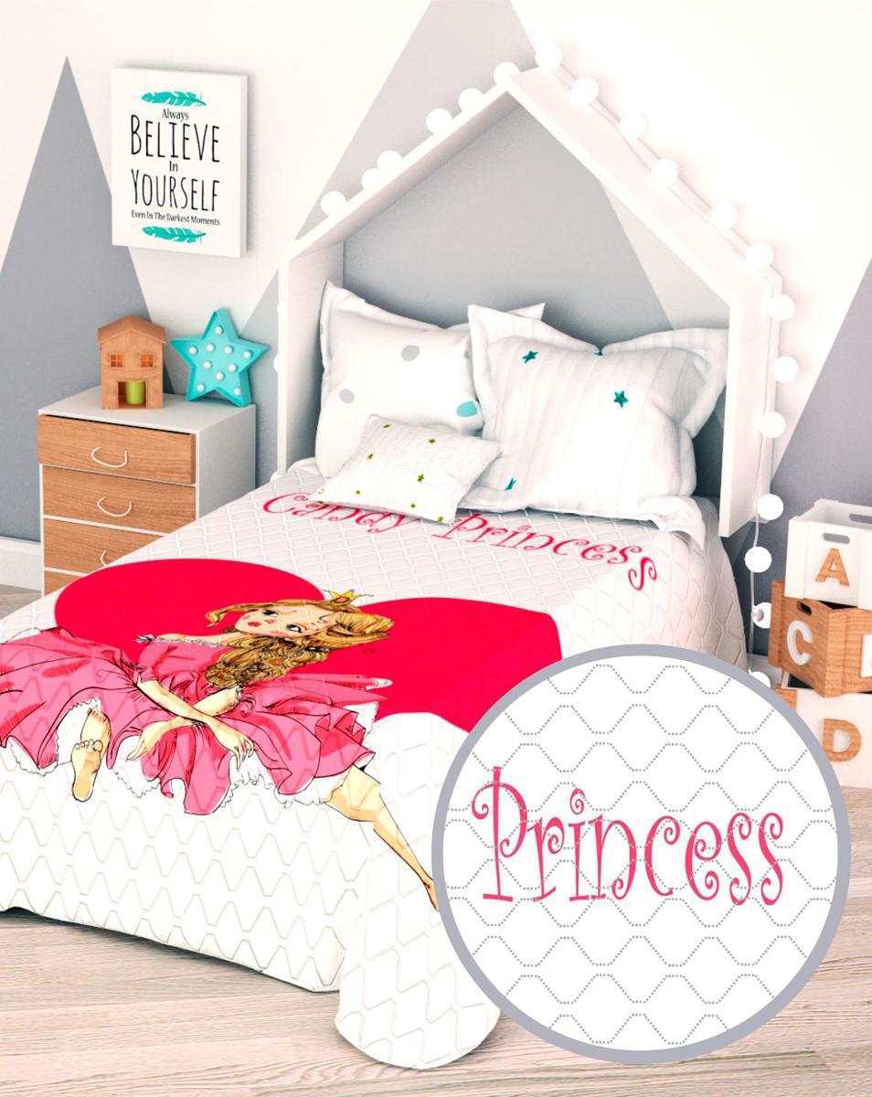 """Покрывало стеганое Сирень """"Розовая принцесса"""", детское, 145 х 210 см"""