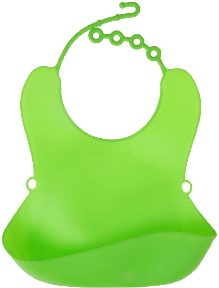 Крошка Я Нагрудник с карманом цвет зеленый 1385790 крошка я нагрудник обжорка