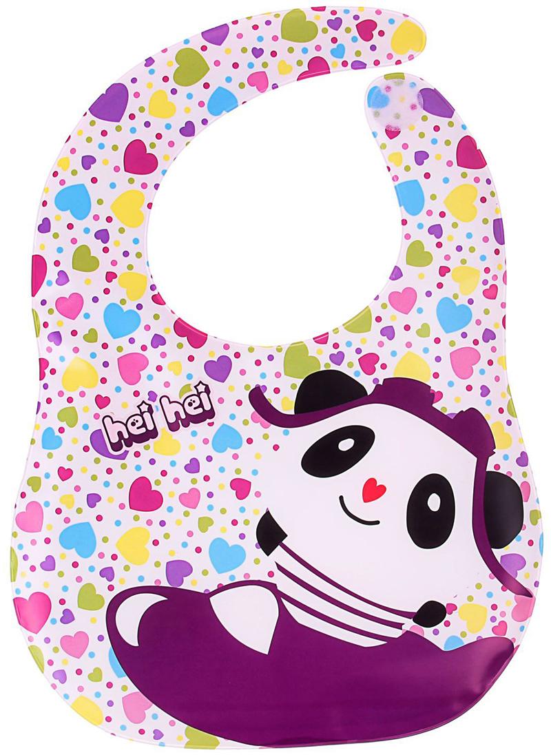 Крошка Я Нагрудник на липучке Веселая панда крошка я нагрудник игрушки для малышек