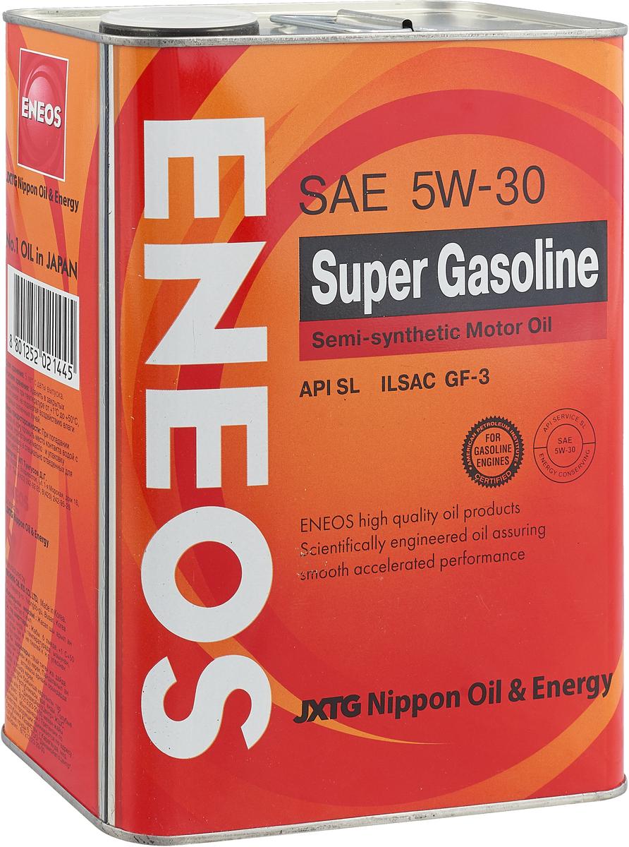 """Масло моторное ENEOS """"Super Gasoline"""", полусинтетическое, 5W-30, 4 л"""