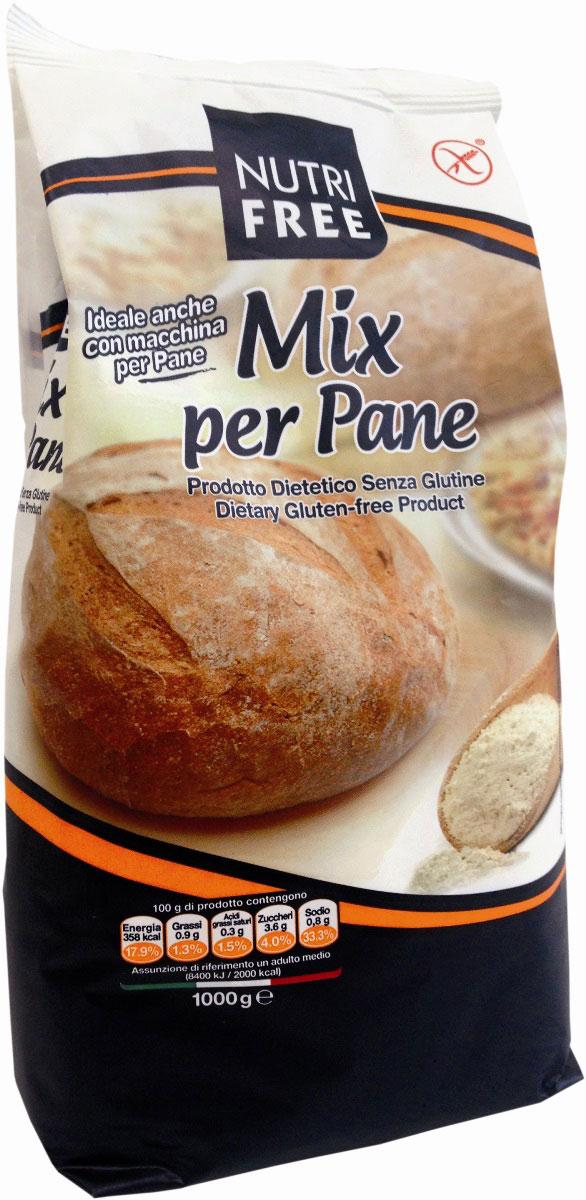 NutriFree Mix per pane Мучная смесь для выпечки хлеба, 1 кг смесь для выпечки почти печенье 40 700
