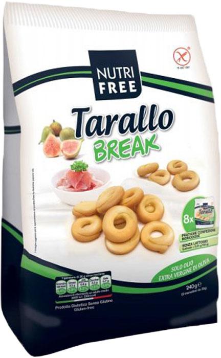 Nutrifree Tarallo Break сушки, 240 гPAN193Сушки в индивидуальной упаковке по 30 гр, 8 мини упаковок. Без содержания глютена, лактозы, белка.Уважаемые клиенты! Обращаем ваше внимание на то, что упаковка может иметь несколько видов дизайна. Поставка осуществляется в зависимости от наличия на складе.
