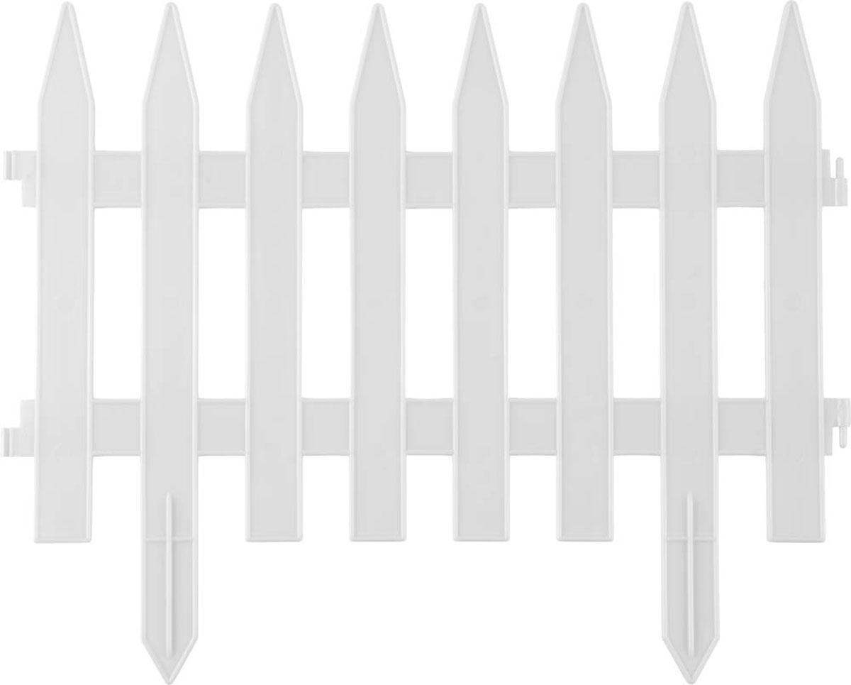 Забор декоративный Grinda Классика, цвет: белый, 28 x 300 см422201-WКрасиво оформить и украсить сад при проведении ландшафтных работ призваны специальные высококачественные долговечные ограждения для клумб и декоративные заборы. Различные формы и цвета способны воплотить любые творческие замыслы, а высокопрочный атмосферостойкий пластик обеспечит длительный срок службы изделий. Идеально подходит для зонирования парка или сада. Изготовлен из полипропилена, устойчивого к воздействию ультрафиолетовых лучей. Семь секций для формирования необходимых зон на участке.- Материал: полипропилен;- Размер: 28х300 см;- Цвет: белый;- Количество секций: 7 шт. Рекомендуем!