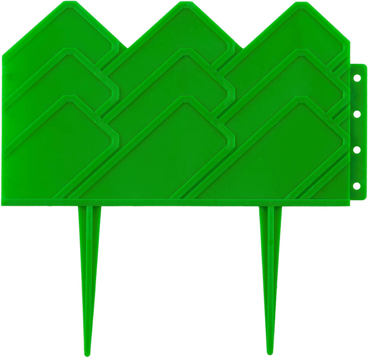 Бордюр декоративный Grinda, для клумб, цвет: зеленый, 14 х 310 см бордюр декоративный летний сад grinda 422225 y