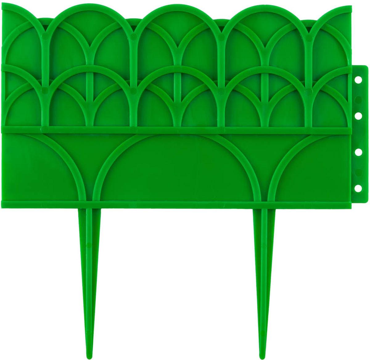 Бордюр декоративный Grinda, для цветников, цвет: зеленый, 14 х 310 см бордюр декоративный летний сад grinda 422225 y