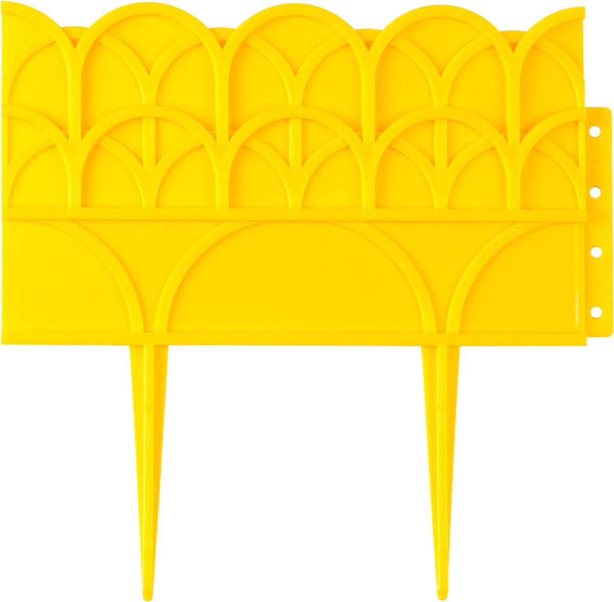 Бордюр декоративный Grinda, для цветников, цвет: желтый, 14 х 310 см бордюр декоративный летний сад grinda 422225 y