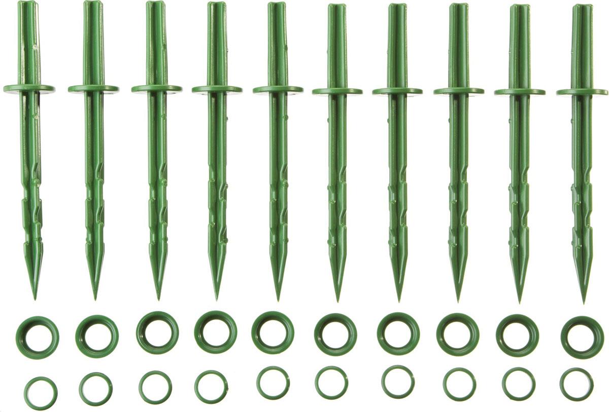 Колышки садовые Grinda, цвет: зеленый, длина 20 см, 10 шт перчатки садовые grinda 11295