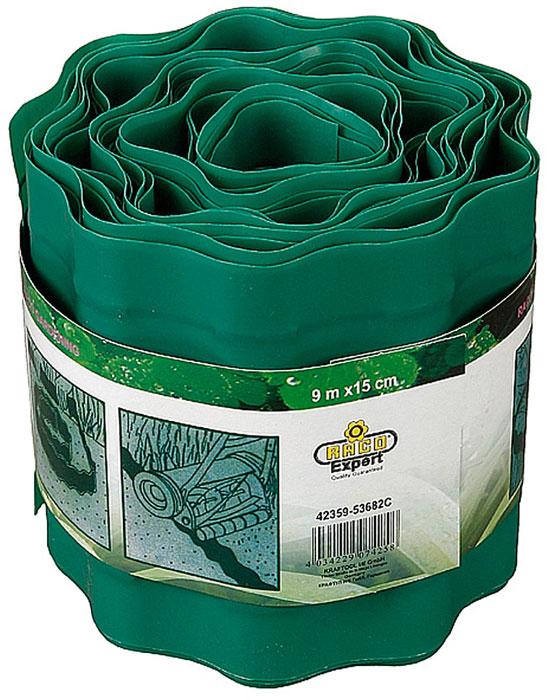 """Лента бордюрная """"Raco"""", цвет: зеленый, 15 см х 9 м"""