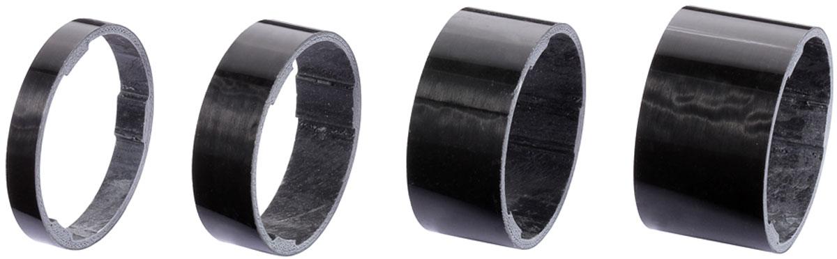 Комплект проставочных колец BBB UltraSpace UD Carbon, цвет: черный, диаметр 1,1/8, 4 шт