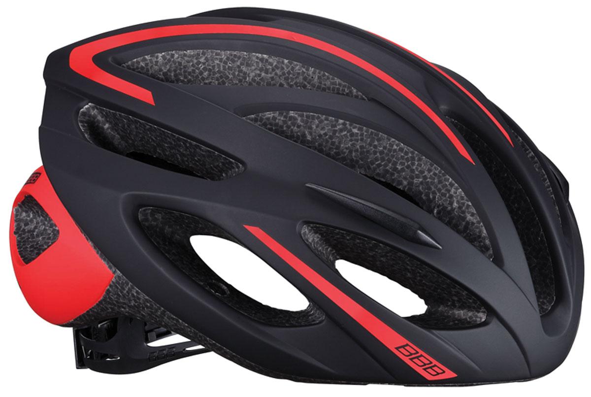 цена на Велошлем BBB 2018 Taurus, цвет: черный, красный. Размер L