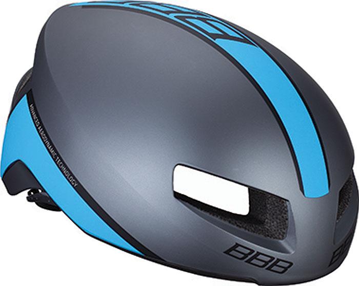 цена на Велошлем BBB 2018 Tithon, цвет: серый матовый, синий. Размер L