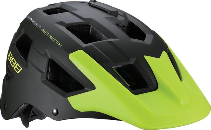 велошлем bbb boogy желтый размер s Велошлем BBB 2018 Nanga, цвет: зеленый матовый, желтый. Размер универсальный