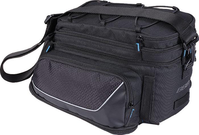 Велосумка на багажник BBB Trunkpack, цвет: черный, 6,5-13,8 л