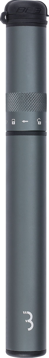 цена на Насос ручной BBB Samurai Telescopic, цвет: серый, 210 мм