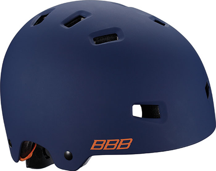 велошлем bbb boogy желтый размер s Велошлем BBB 2018 Billy, цвет: синий матовый, оранжевый. Размер S