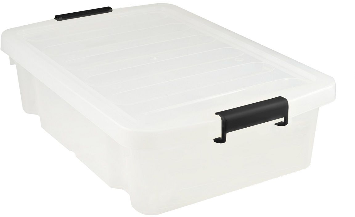 Ящик для хранения Plast Team Premium, цвет: прозрачный, 30 л ящик для хранения plast team premium цвет прозрачный 60 л