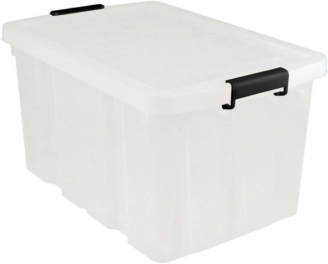 Ящик для хранения Plast Team Premium, цвет: прозрачный, 60 л ящик для хранения plast team premium цвет прозрачный 60 л