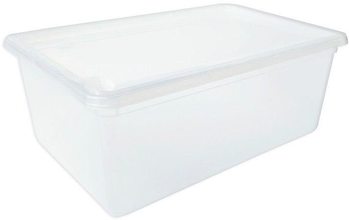 Ящик для хранения Plast Team, универсальный, цвет: прозрачный, 10 л ящик darel box с крышкой цвет салатовый прозрачный 18 л