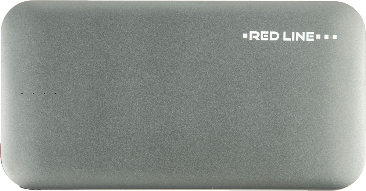 Red Line B8000, Grey внешний аккумулятор (8 000 mAh) red line r 3000 blue внешний аккумулятор