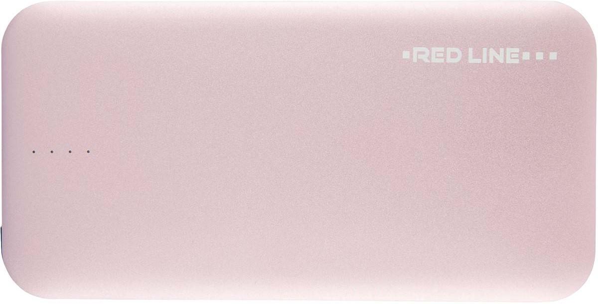 Red Line B8000, Pink Gold внешний аккумулятор (8 000 mAh) внешний аккумулятор redline b8000 8000 mah металл gold