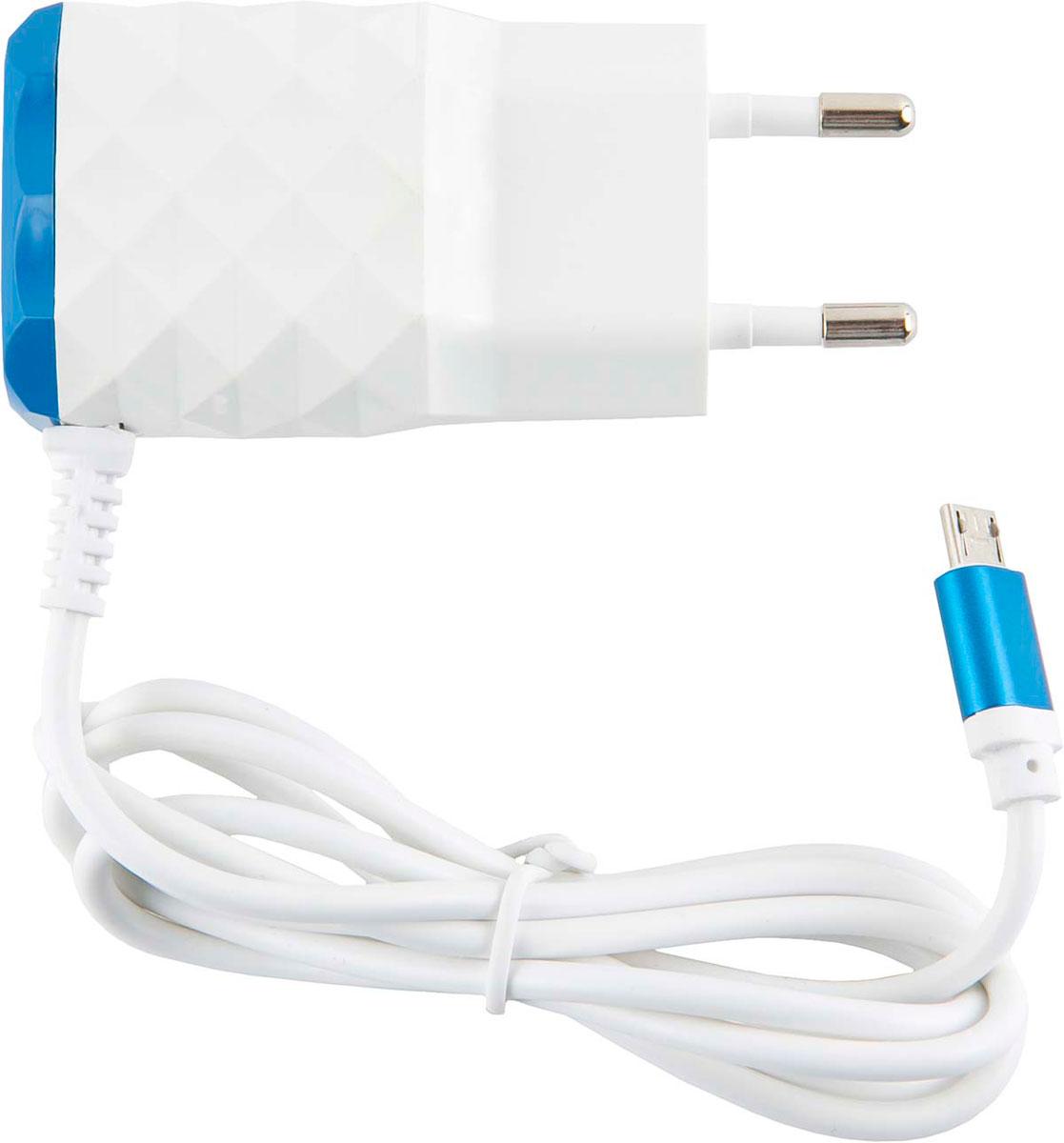 Red Line NC-2.1AC, Blue 2 USB+micro USB сетевое зарядное устройство цена