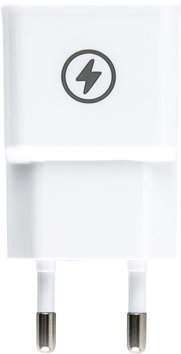 Red Line NT-1A, White сетевое зарядное устройство + кабель micro USB red line nc 2 1ac white 2 usb micro usb сетевое зарядное устройство