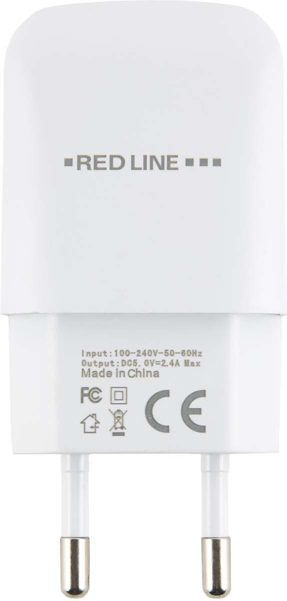 Red Line NTC-2.4А, White сетевое зарядное устройство + кабель Type-C red line nt 1a white сетевое зарядное устройство кабель lightning