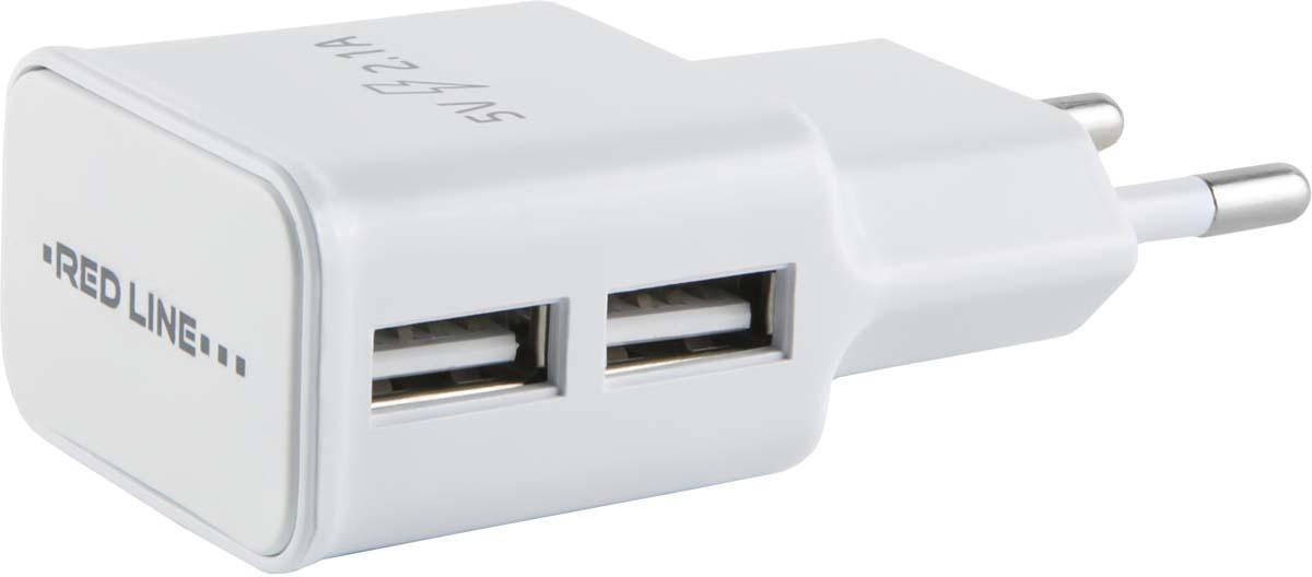 Red Line NT-2A, White сетевое зарядное устройство + кабель Lightning red line nt 1a white сетевое зарядное устройство кабель lightning