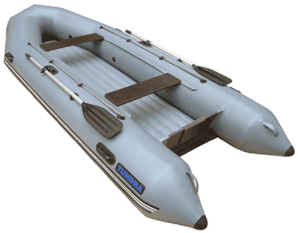 Лодка надувная Leader Тундра-325, цвет: серый
