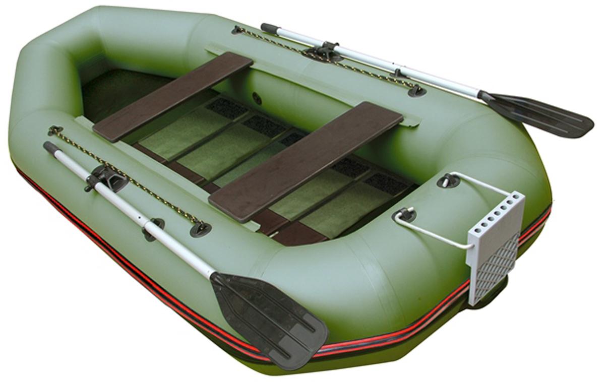 Лодка надувная Leader Компакт-300Р, гребная, цвет: зеленый