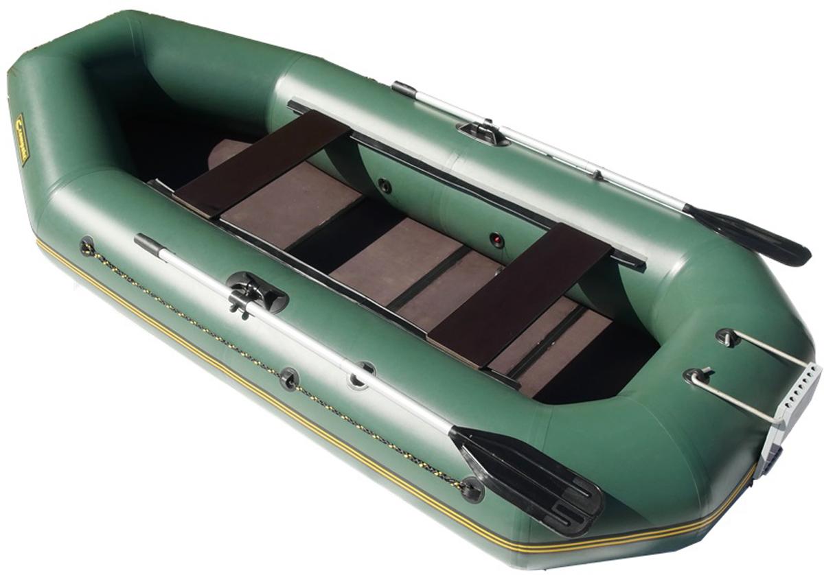 Лодка надувная Leader Компакт-300, гребная, цвет: зеленый