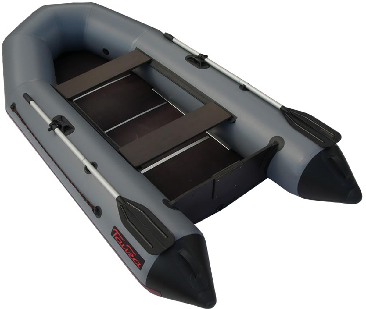 Лодка надувная Leader Тайга-290 Киль, цвет: серый