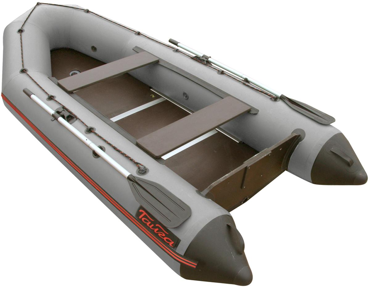 Лодка надувная Leader Тайга-340 Киль, цвет: серый