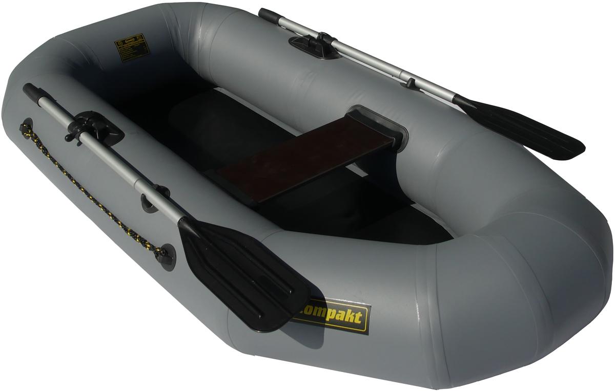 """Лодка надувная Leader """"Компакт-210"""", гребная, цвет: серый"""