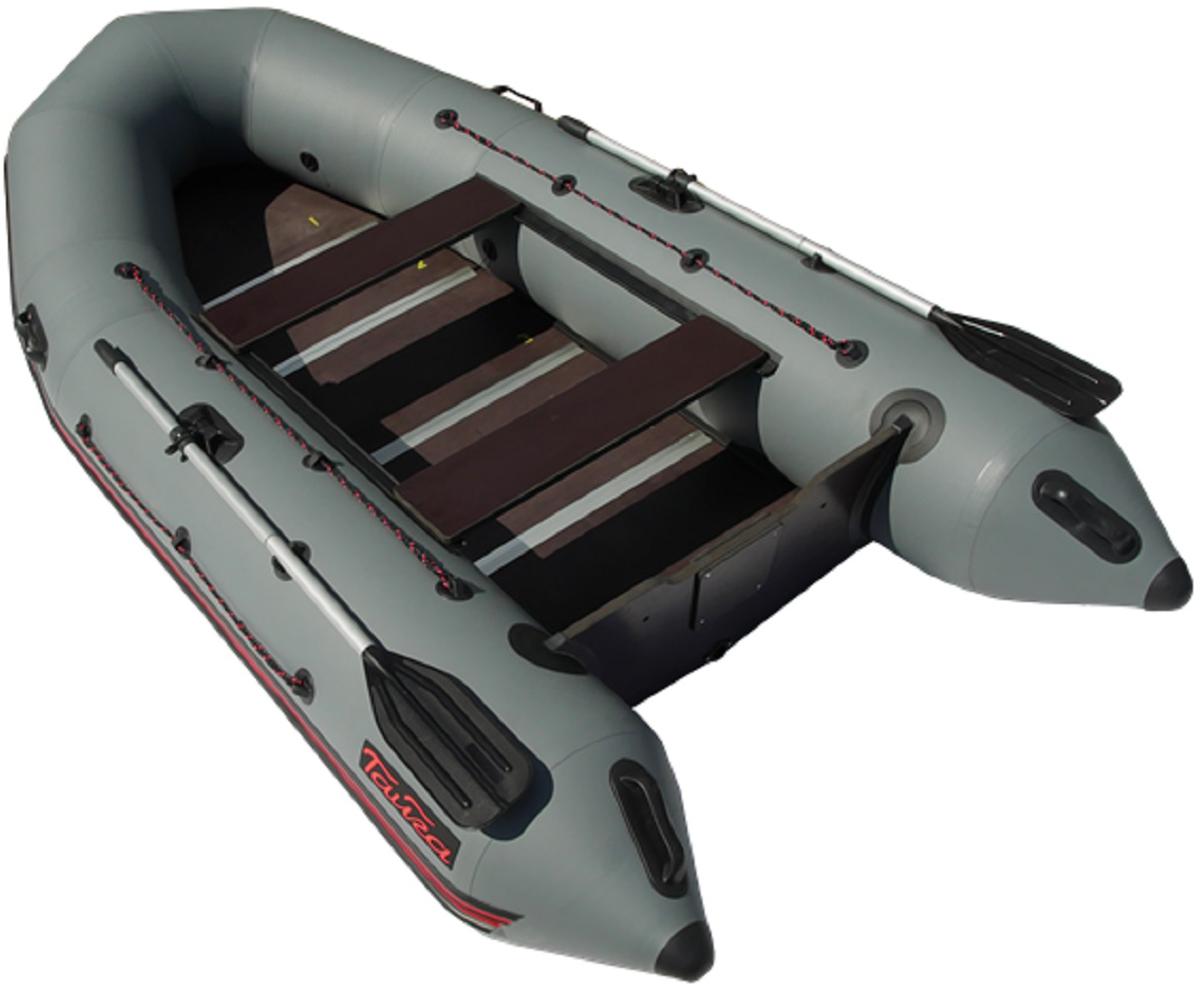 Лодка надувная Leader Тайга Nova - 340 Киль, цвет: серый