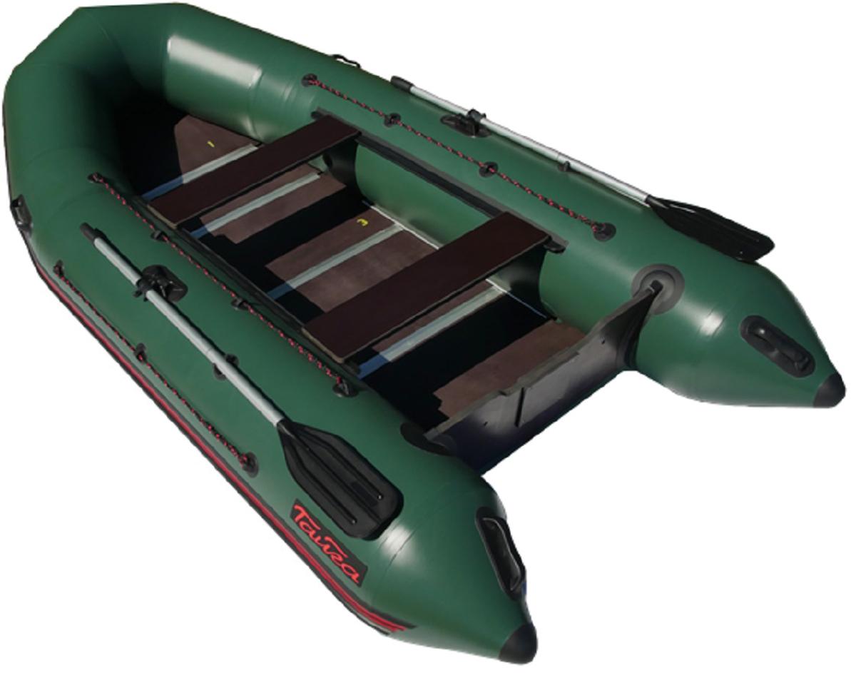 Лодка надувная Leader Тайга Nova - 340 Киль, цвет: зеленый