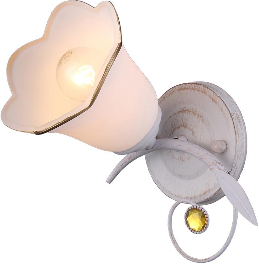 Настенный светильник Natali Kovaltseva, 1 х E14, 40W. 11452/1W WHITE GOLD11452/1W WHITE GOLDКлассический стиль зародился еще в античные времена. Классика вне времени. Светильники в стиле классика самый любимый декоративный элемент мировых интерьер-дизайнеров. Светильники данной серии от Natali Kovaltseva имеют очень практичный и функциональный дизайн, отличное качество и простота в эксплуатации. Срок службы этих светильников превышает десятилетие. Размеры: L22 x W17 x H18 cm