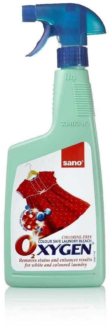 """Пятновыводитель-спрей Sano """"Oxygen"""", для обработки пятен перед стиркой, 750 мл"""