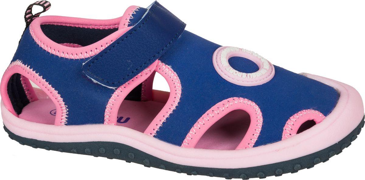 Сандалии для девочки Mursu, цвет: синий, розовый. 203425. Размер 28203425Восхитительные сандалии от Mursu не оставят равнодушной вашу юную модницу. Модель изготовлена из современного, эластичного, быстросохнущего текстиля. Удобный ремешок с липучкой надежно зафиксирует на ноге. Ярлычок на заднике облегчает надевание. Внутренняя часть из текстиля комфортна при ходьбе. Подошва оснащена рифлением для лучшего сцепления с поверхностью. Сандалии подходят для пляжа и спортивных игр.